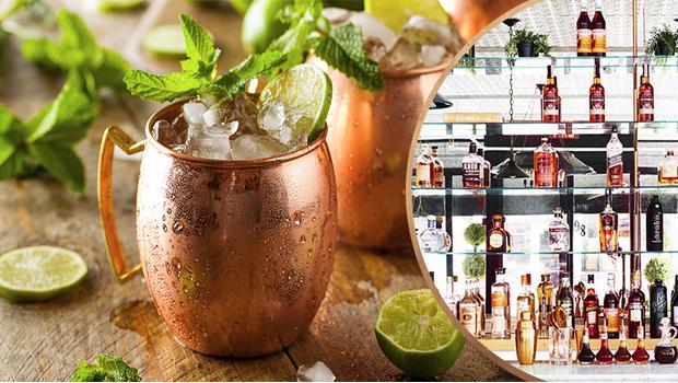 Cocktails in koper