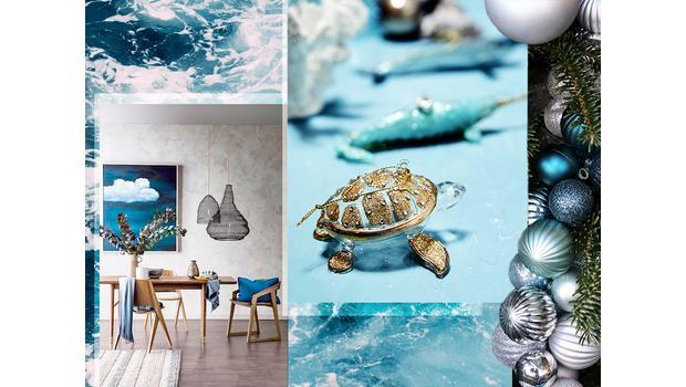 Kerstmis trend: diep in de zee