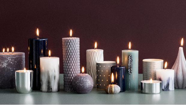 Stylen met kaarsen