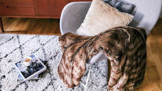 Spreien & kussens van fake fur