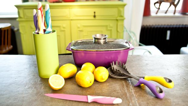 Een keuken vol kleur