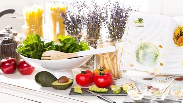 Een groene keuken