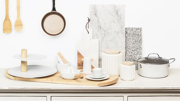 Keukentrend: wit & hout