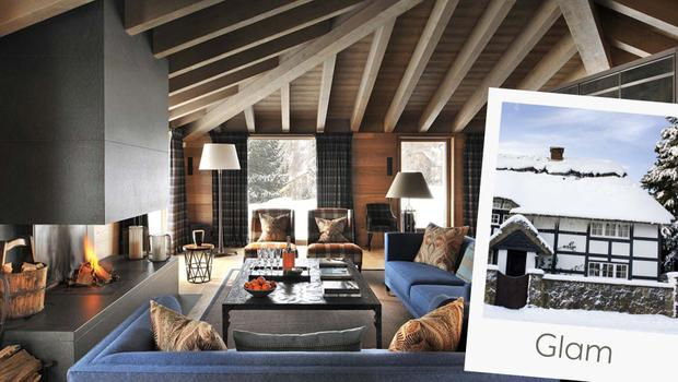 Chalet in glam stijl
