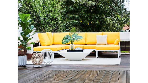 De moderne outdoor lounge