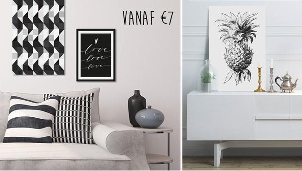 Een zwart-wit modehuis