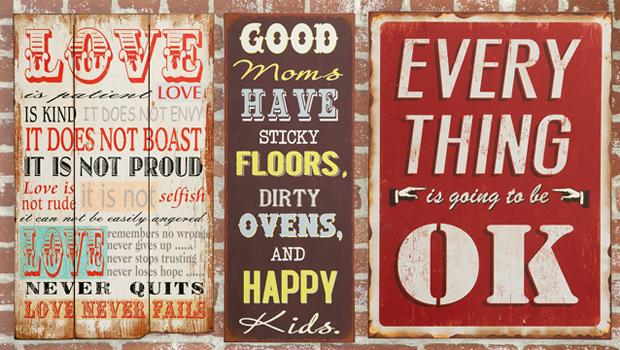 Spreuken Voor Op De Muur.Wijze Wandplaten Spreuken Voor Aan De Muur Westwing