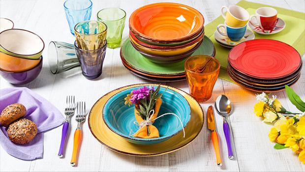 Kleurrijk tafelen