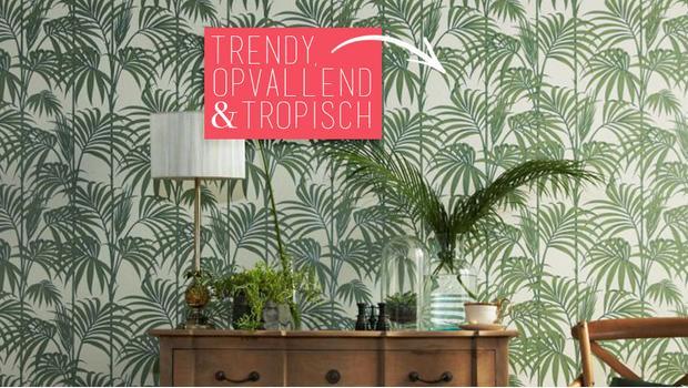Behang Prints Opvallend : Jungle fever behang met een tropische print westwing