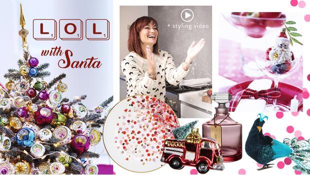 L. O. L. with Santa