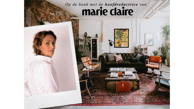 Met Marie Claire op de bank