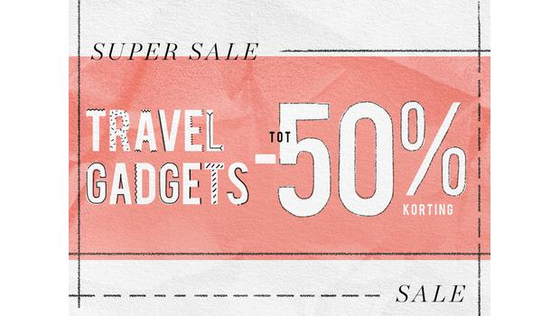 Travel gadgets tot -50%
