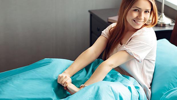 Łóżko w kolorze