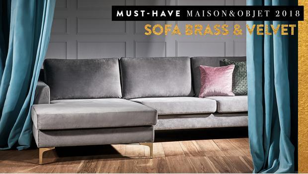 Must-have: Sofa brass & velvet