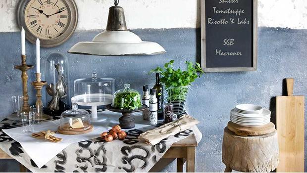 W rustykalnej kuchni