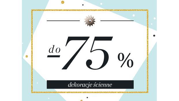 Dekoracje ścienne do -75%