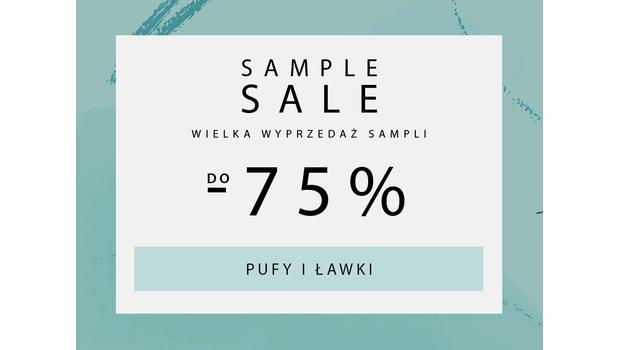 SAMPLE SALE Pufy, lawki