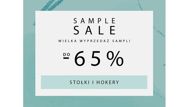SAMPLE SALE  Stolki, hokery