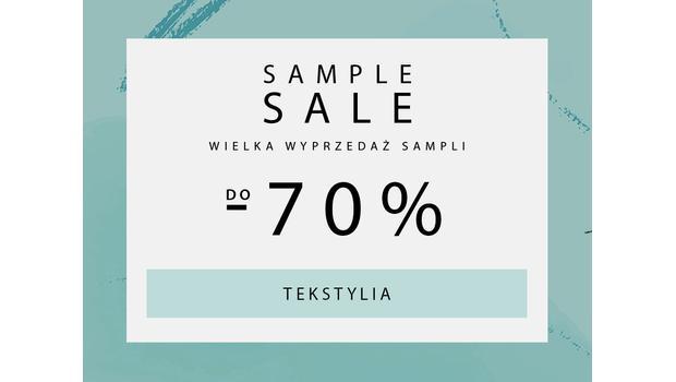 SAMPLE SALE Tekstylia salonowe