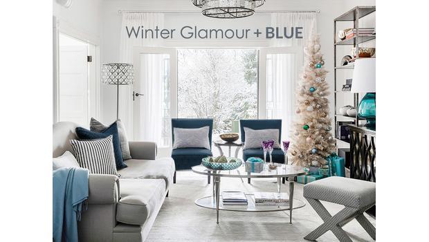 Winter Glamour + Blue