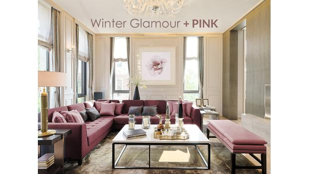 Winter Glamour + Pink