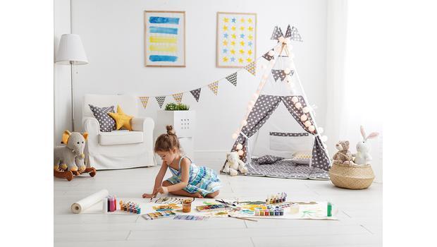 Pokój dziecka pełen kolorów