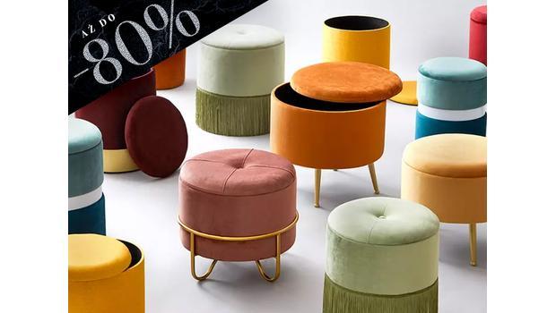 Pufy, stołki, ławki