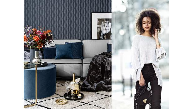 Stylish woman: navy & elegant