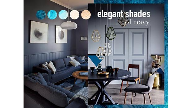 Elegant shades of navy