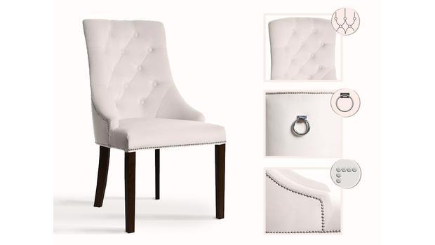 Krzesła o niezwykłych detalach