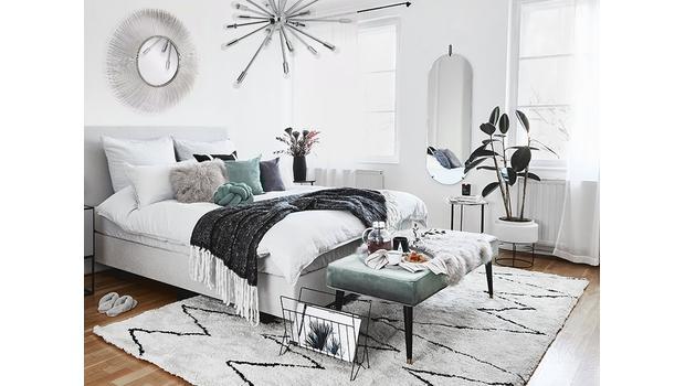 Sypialnia w zimowych barwach