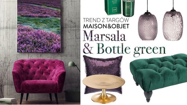Marsala & Bottle green