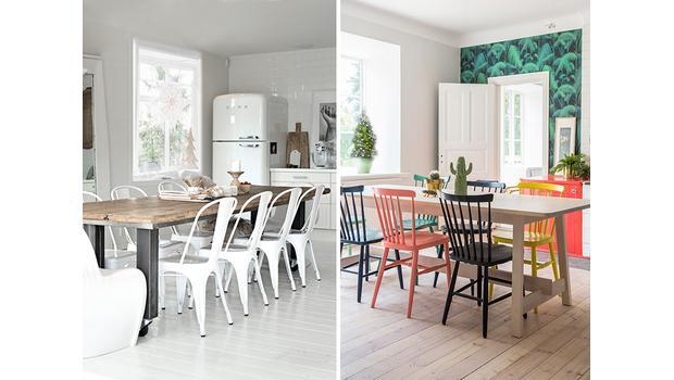 Monochrome vs Colorful Kitchen