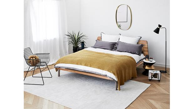 Modern Minimal w sypialni