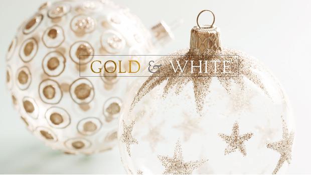 Święta w bieli i złocie