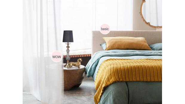 Bedroom: 80% basic + 20% WOW!
