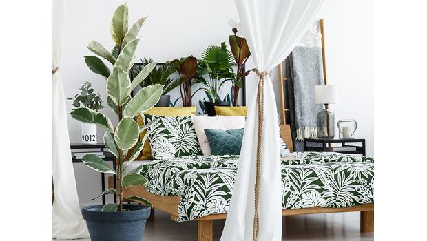 Sypialnia w stylu jungle