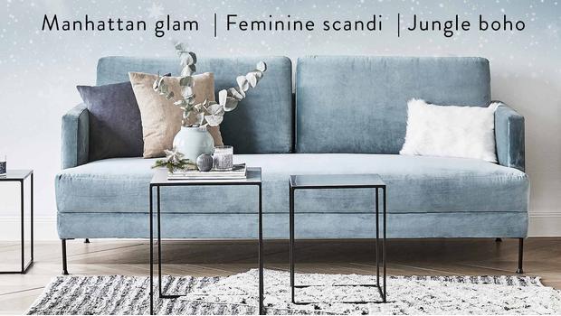 Sofa w 3 stylizacjach