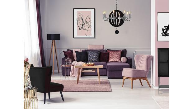 Romantic pink & Elegant black