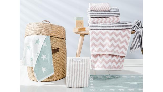 Ręczniki w geometryczne wzory