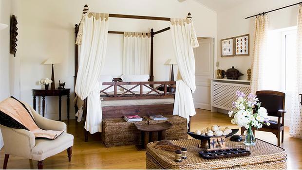 Sypialnia z nutą egzotyki