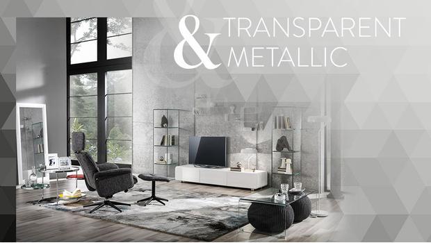 Transparent & metallic