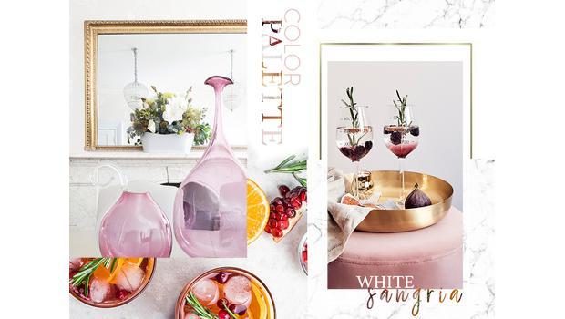 Color palette: WHITE SANGRIA