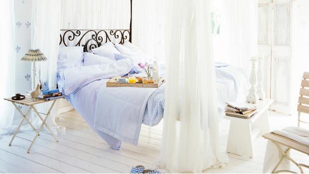 W prowansalskiej sypialni