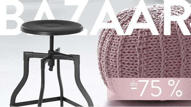 BAZAAR: stolčeky, pufy, lavice