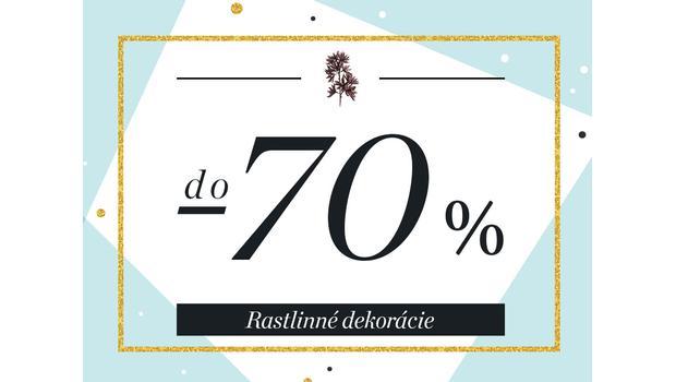 Rastlinné dekorácie do -70 %