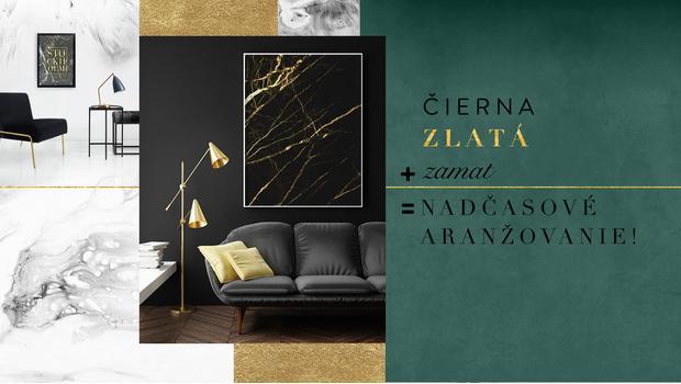 Black, gold & velvet
