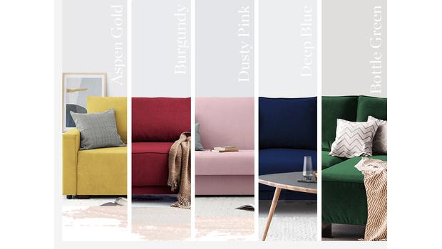 5 shades of sofa
