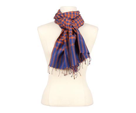 Foulard KRAMA soie, orange et bleu marine - 46 175 Vérifier la  disponibilité ... 715efec43d9