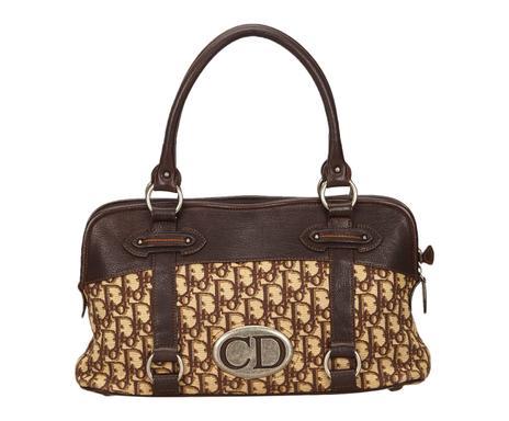 395a0f74d2 ... Sac à main d'occasion DIOR tissu et cuir, marron et beige - 37*21  Vérifier la disponibilité ...